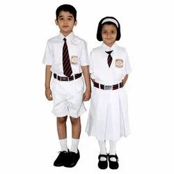 White Cotton School Uniforms for Girls and Boys, Packaging Type: Poly Pack