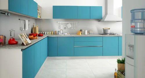 Vanilla L Shape Kitchen Interior Design Services In Okhla Jamia