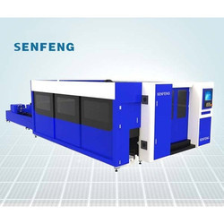 SF3015HM Full Protection Metal Plates and Pipes Fiber Laser Cutting Machine