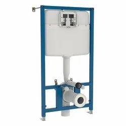White Dual Flush Siamp Slim Concealed Cisterns Full Frame, For Toilet