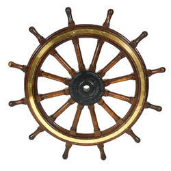 Antique Nautical Big Vintage Ships Wheel