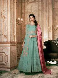 Designer Georgette Aanarkali Suit