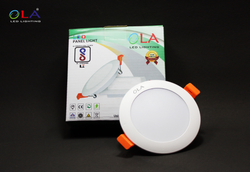 OLA Round 6W Single Colour LED Light, For Indoor And Decorations, Size/Dimension: 78