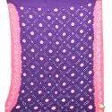 Blue And Pink Color Cotton Bandhani Kurti