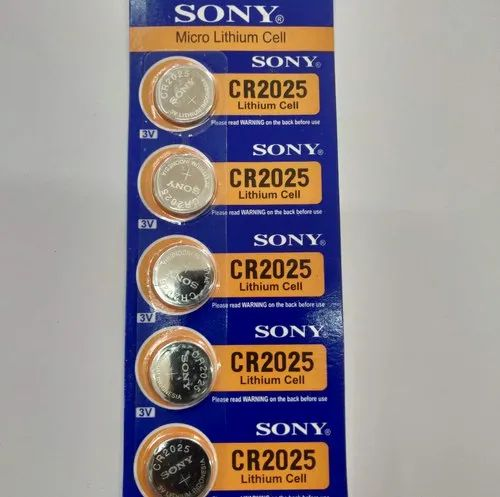 Sony Lithium Coin Batteries CR2025, for Watches