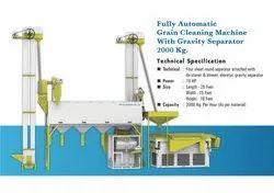 Mild Steel Grain Cleaning Machine With Gravity Separator