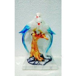 Marble Parrot Sculpture for Interior Decor, Size: 5 inch