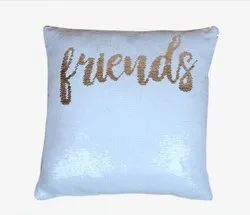 Square Golden Friends Magic Cushions Sublimation Printable Blanks Decorative Gift Quick to Install