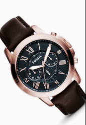 Fossil Black And Brown Watch