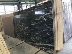 Rajasthan Black And Golden Granite, Thickness: 15-20 mm