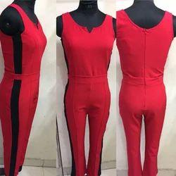 Ladies Red Jumpsuit