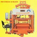 FIVE VIBRATOR HYDRAULIC BLOCK MAKING MACHINE