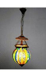 Round Handmade Khurja Music Lamp For Home