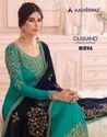 Aashirwad Nirva Designer Georgette Straight Salwar Kameez Catalog Collection