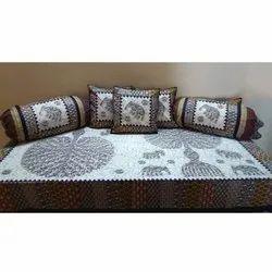 Printed Handwash Diwan Bed Sheet