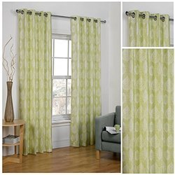 Green Eyelet Curtains, Size: 140 X 200 Cm