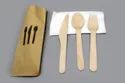 Kraft Paper Wrapped Wooden Cutlery Pack