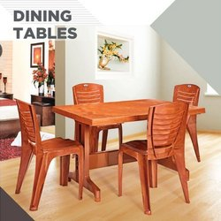 Nilkamal Plastic Ultima Dining Table Set, For Home, Size/Dimension: 1200x800x730 Mm