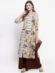 Branded Ladies Kurtis Palazzo Set