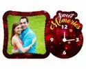 Sublimation Glitter Wooden Clock Frame