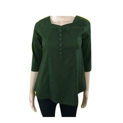 Cotton Casual Ladies Designer Long Top, Size: Free Size