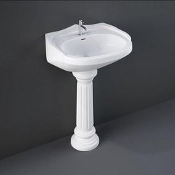 Wall Mounted Ceramic Pedestal Wash Basin