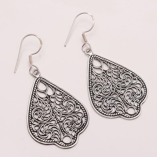 925 Solid Sterling Fine Silver Plain Earring