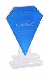 Blue Faceted Impress Award