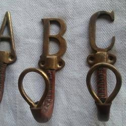 Alphabet Hook In Leather