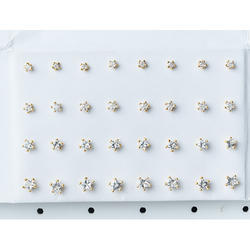 Gold Single Star Nose Stud