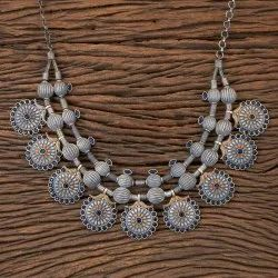 Indo Western Two Tone Handmade Trendy Necklace 101235