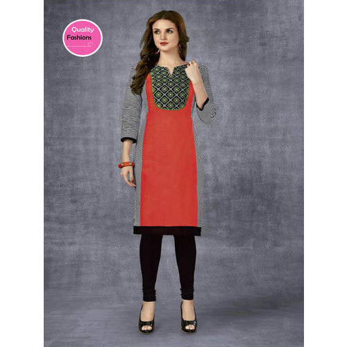 L And XXL Stitched And Unstitched Ladies Cotton Kurti
