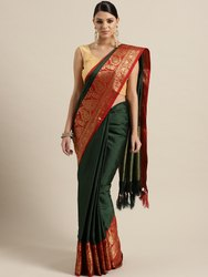 Kessi Fabric Mango Cotton Silk Saree