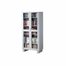 Cube Polished Stainless Steel Bookcase Almirah