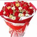 Roses And Gerbera Bunch
