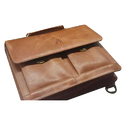 Buff Leather Laptop Bag