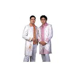 White and Pink Men Colored Indo Western Suits