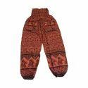Regular Fit Brown Printed Harem Pant