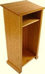 Wooden Podium With Shelf