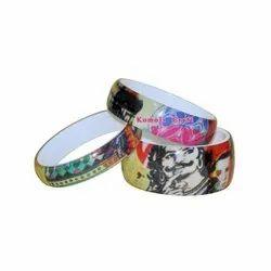 Fabric Insert Resin Image Bangles Image Bracelets