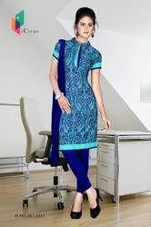 Blue Italian Crepe Uniform Salwar Kameez