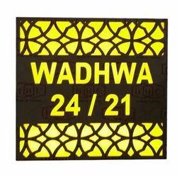 Square Acrylic LED Name Plate