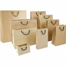 Kraft Paper Brown Plain Paper Packaging Bag, Capacity: 5-10 kg
