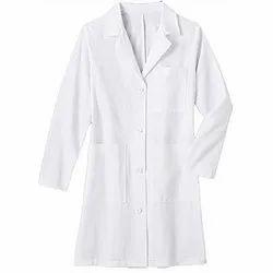 White Cotton Lab Coat, For Hospital, Machine wash