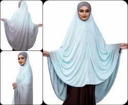 Plain Instant Stitched Islamic Hijab Abaya