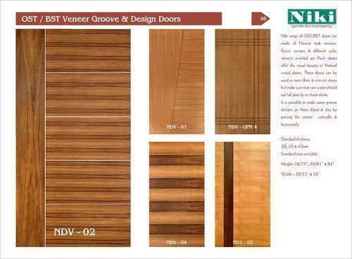Incroyable Teak Customized OST/ BST Veneer Groove Doors