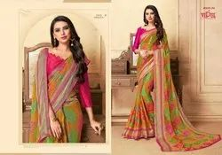 Vipul Ayaan Moon Valley Chiffon Brasso Fancy Sarees Wholesaler