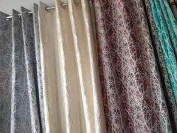 Multicolor Silk Interior Designers Curtain, For Window