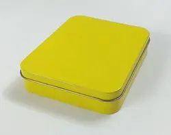 Yellow Plain Tin Box