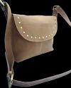 Flap Closure Designer Leather Messenger Bag